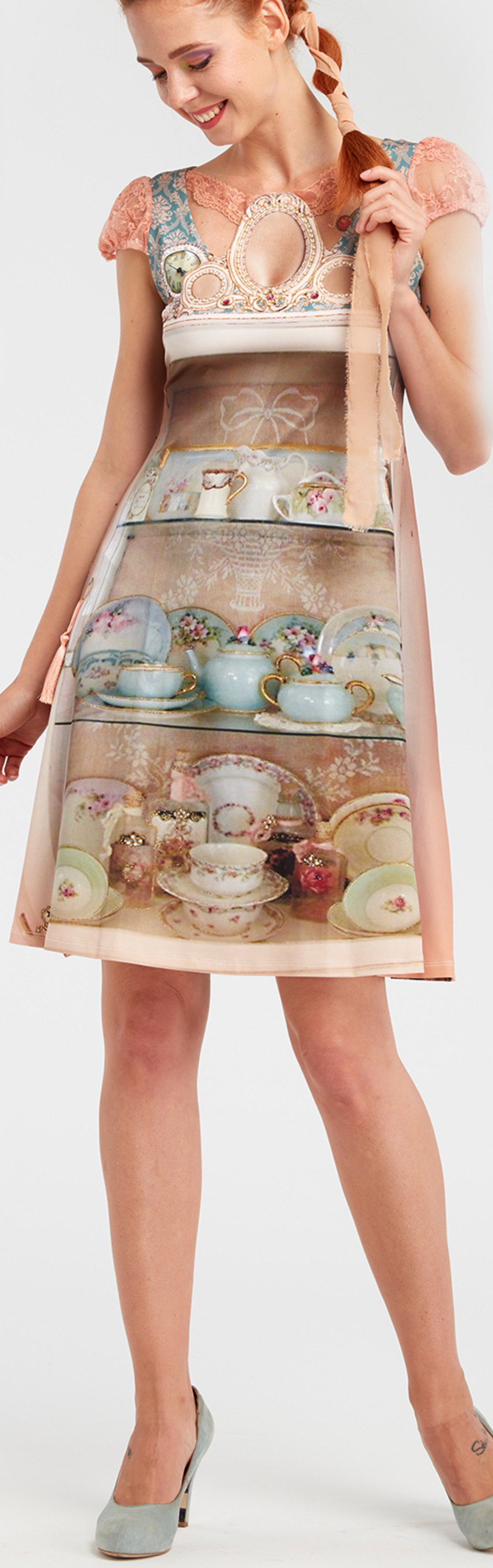 IPNG: Inna Me IPNG: Inna Me Royal Rose Cupboard Illusion Midi Dress (Some Ship Immed!) IPNG_TIMD-032