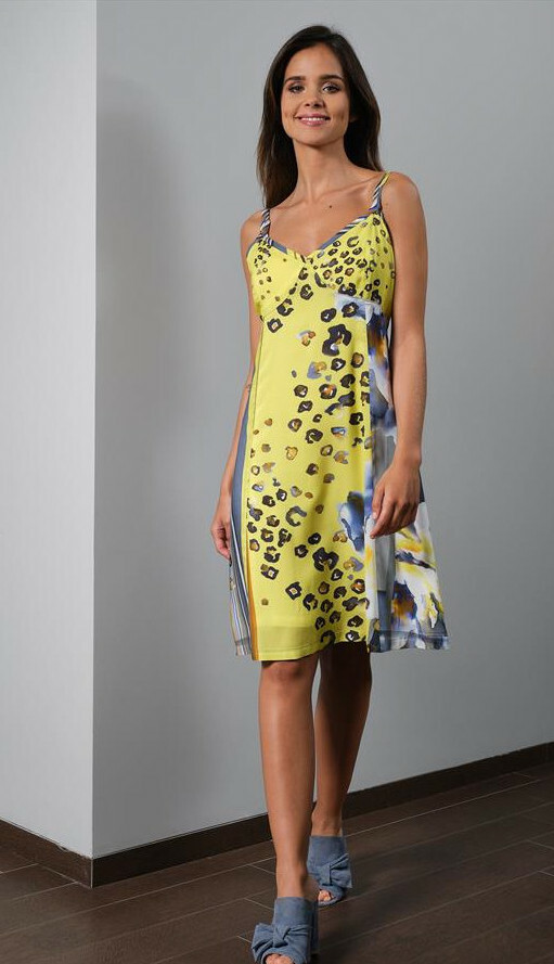 Paul Brial: Wild Lily Under The Sun Sweetheart Midi Dress PB_FERIA