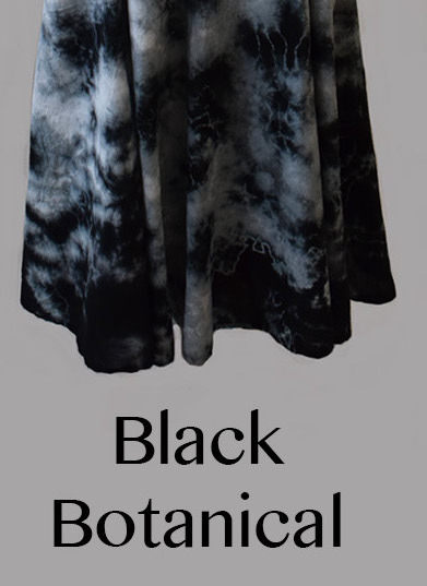 Luna Luz: Short Sleeve Cross Over Bodice Tie Dye  Long Dress (Ships Immed: Navy Shoreline & Black Botanical!)