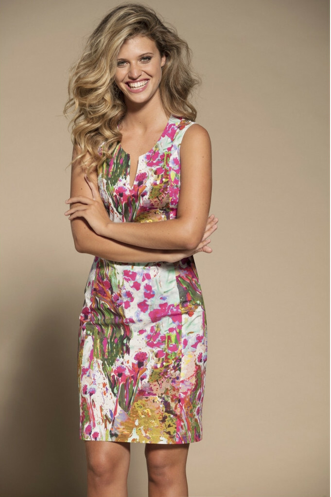 Maloka: Pink Isles Abstract Art Cotton Dress (Few Left!) MK_FALLON