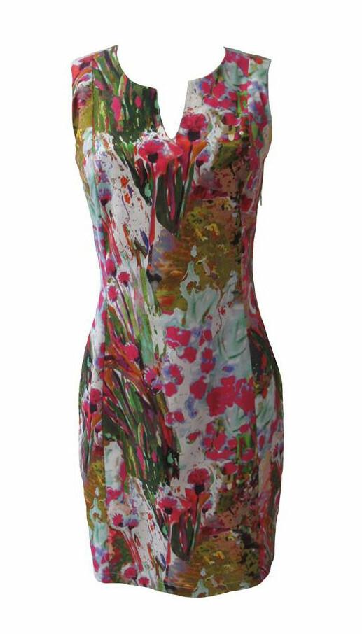 Maloka: Pink Isles Abstract Art Cotton Dress (Few Left!)