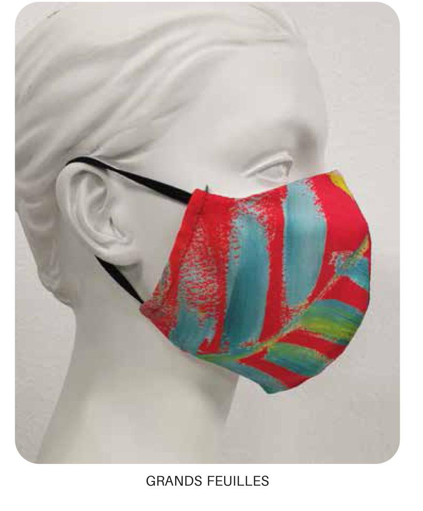 Maloka: Hawaiian Flower Beauty Abstract Art Protective Masks With Filter (Few Left!) HAWAIIANFLOWER_Mask