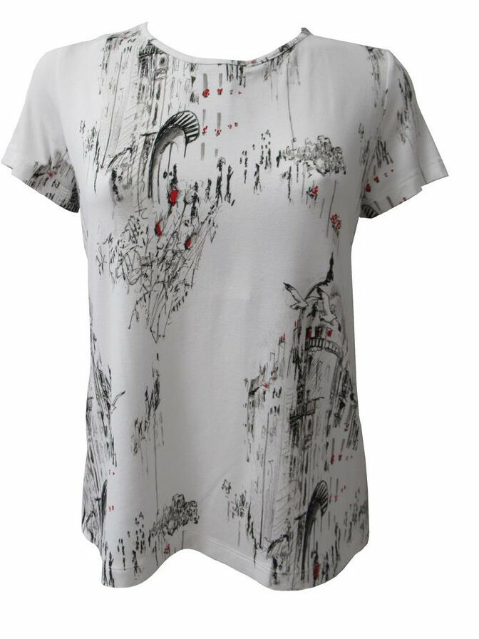 Maloka: A Day In Paris Abstract Art Back Tied Top