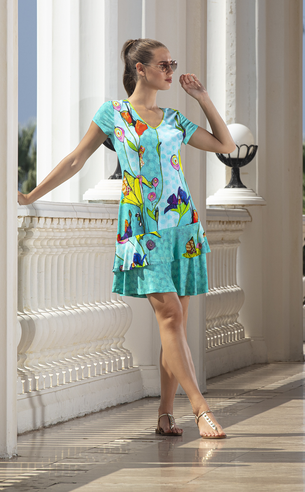 Simply Art Dolcezza: Summer's Coming Grand Bouquet Ruffled Art Dress (2 Left!) DOLCEZZA_SIMPLYART_20744
