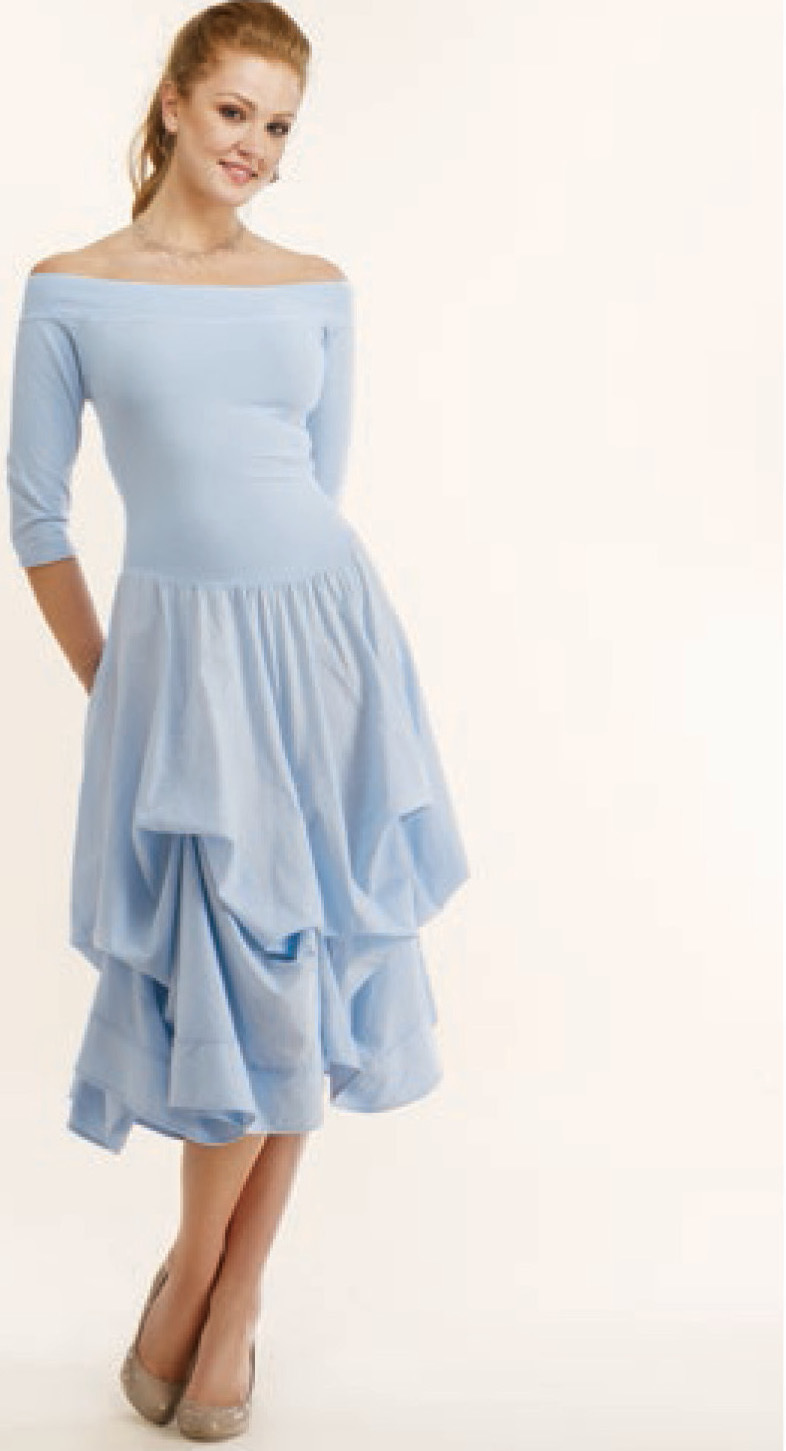 Luna Luz: Tied & Dyed Off The Shoulder Godet Dress (Ships Immed, 1 Left in Indigo Salt Wash!)