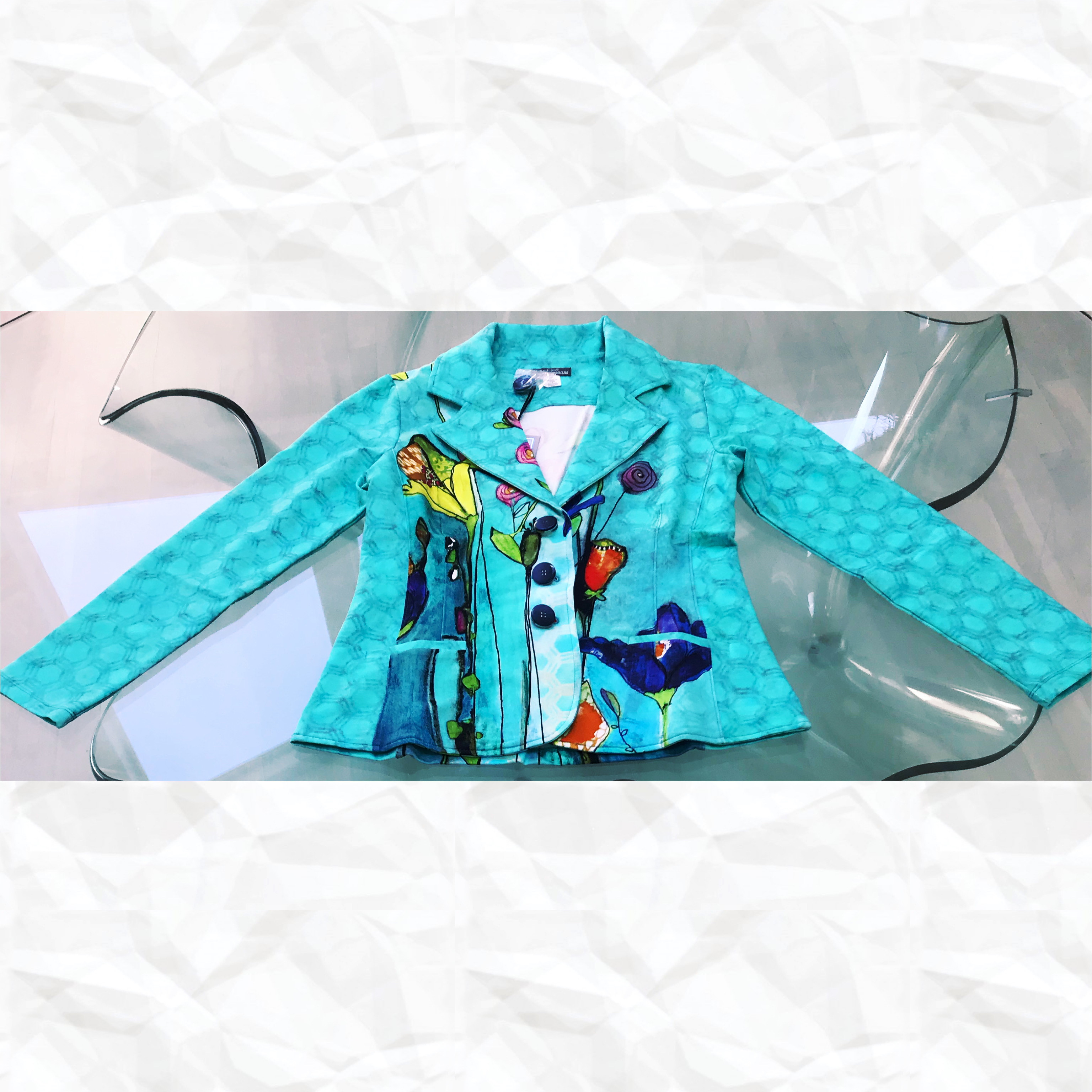 Simply Art Dolcezza: Summer's Coming Grand Bouquet Abstract Art Blazer (2 Left!) DOLCEZZA_SIMPLYART_20748