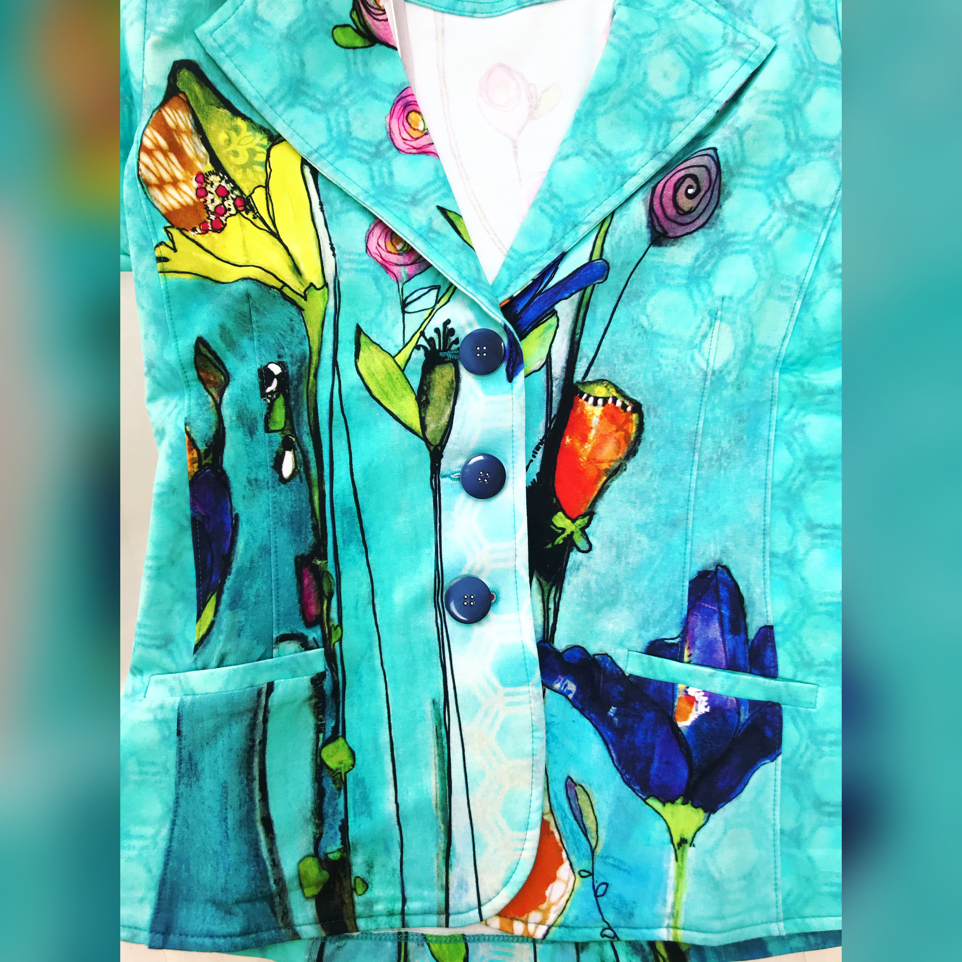 Simply Art Dolcezza: Summer's Coming Grand Bouquet Abstract Art Blazer (2 Left!)