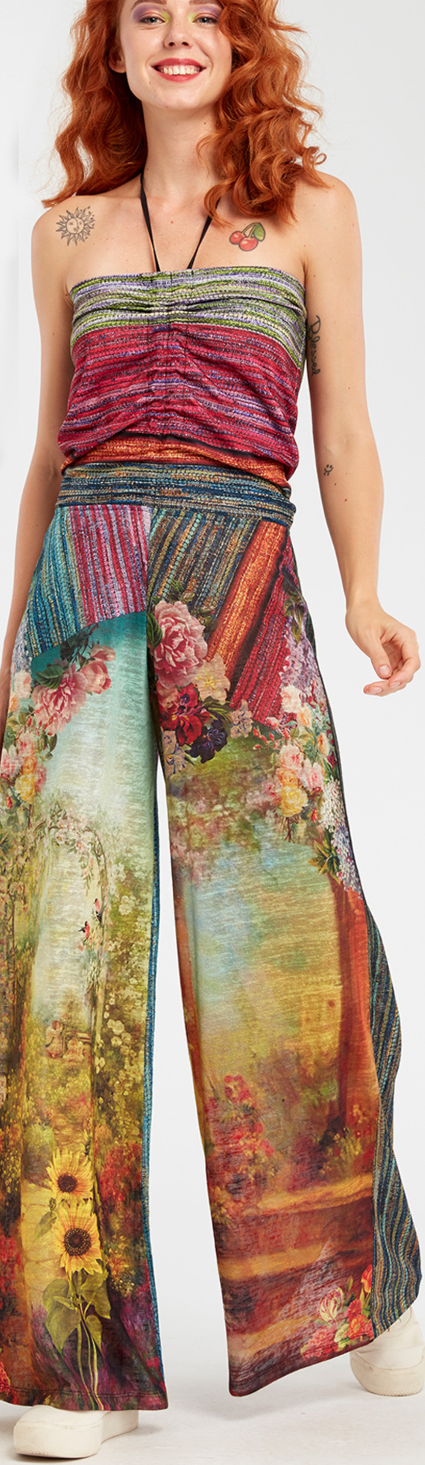 IPNG: In Paradiso Cherry Carnation 3D Illusion Comfort Jumpsuit/Pants