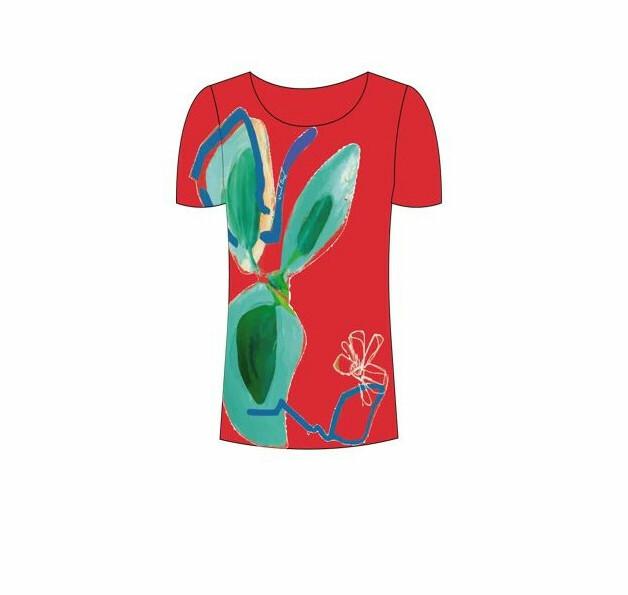 Paul Brial: Hawaiian Flower Beauty Abstract Art T-Shirt PB_AFFRANCHI