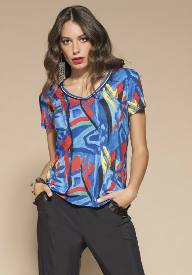 Maloka: Colors Of Picasso's Gypsy Beauty Abstract Art T-shirt MK_GISELLE_GYPSY