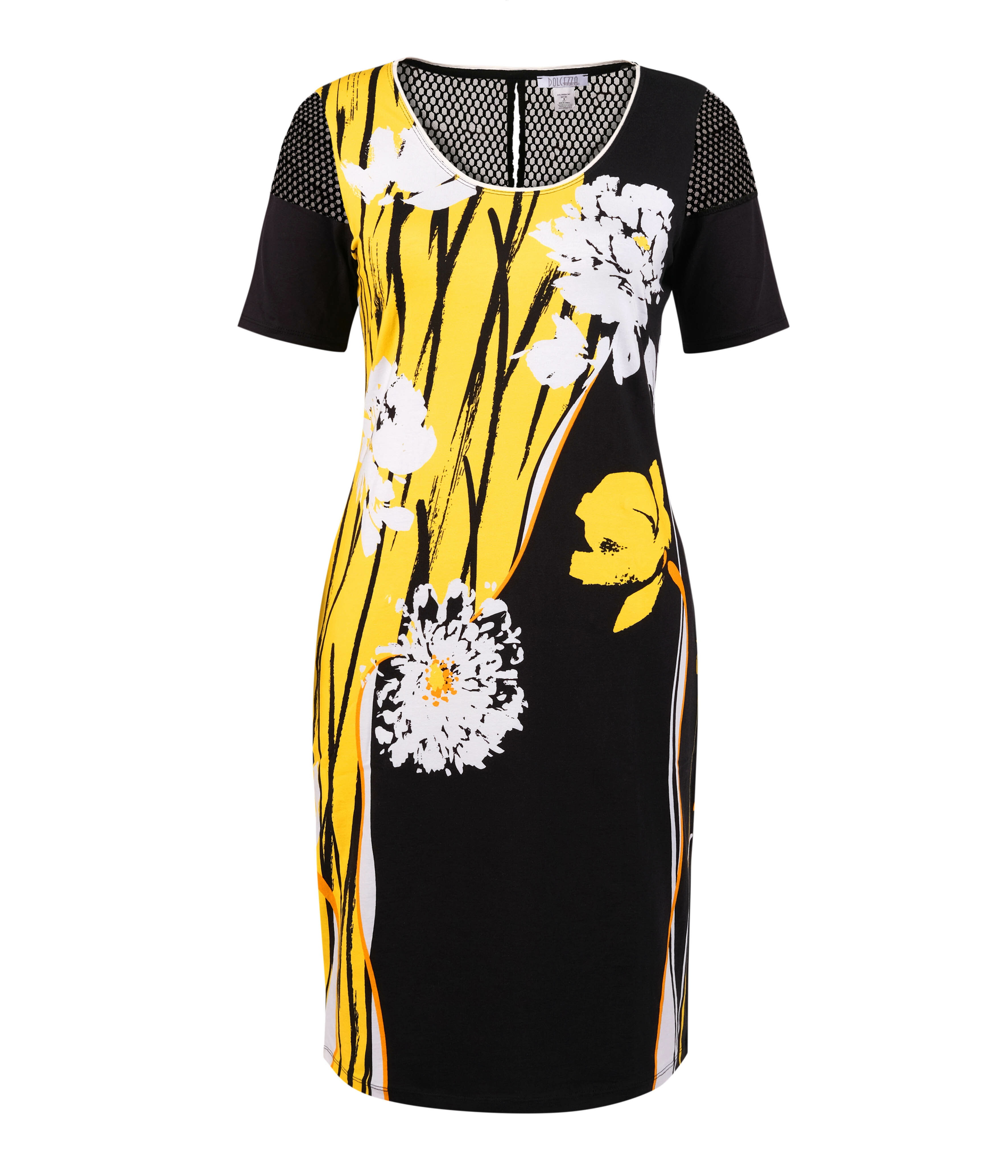 Simply Art Dolcezza: Bumble Bee Summer Bloom Abstract Art Dress