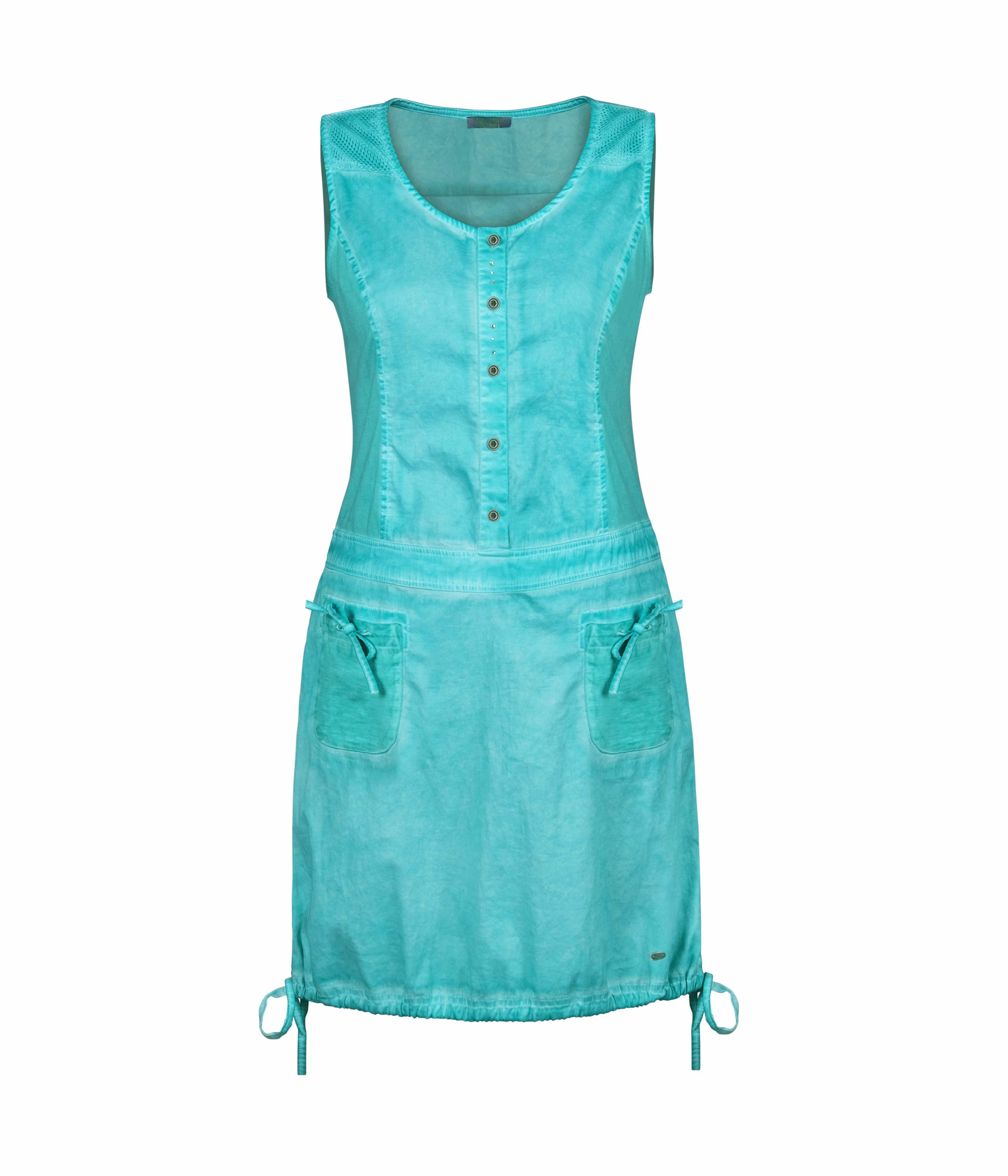 Dolcezza: Tropical Island Tied Hem Cotton Stretch Dress DOLCEZZA_20200_TURQ