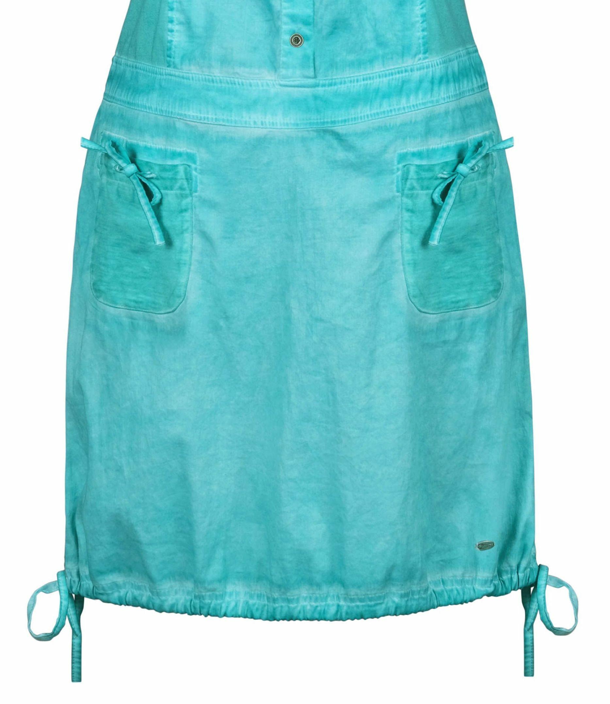 Dolcezza: Tropical Island Tied Hem Cotton Stretch Dress