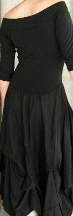 Luna Luz: Tied & Dyed Off The Shoulder Godet Dress (Ships Immed, 1 Left in Black!)