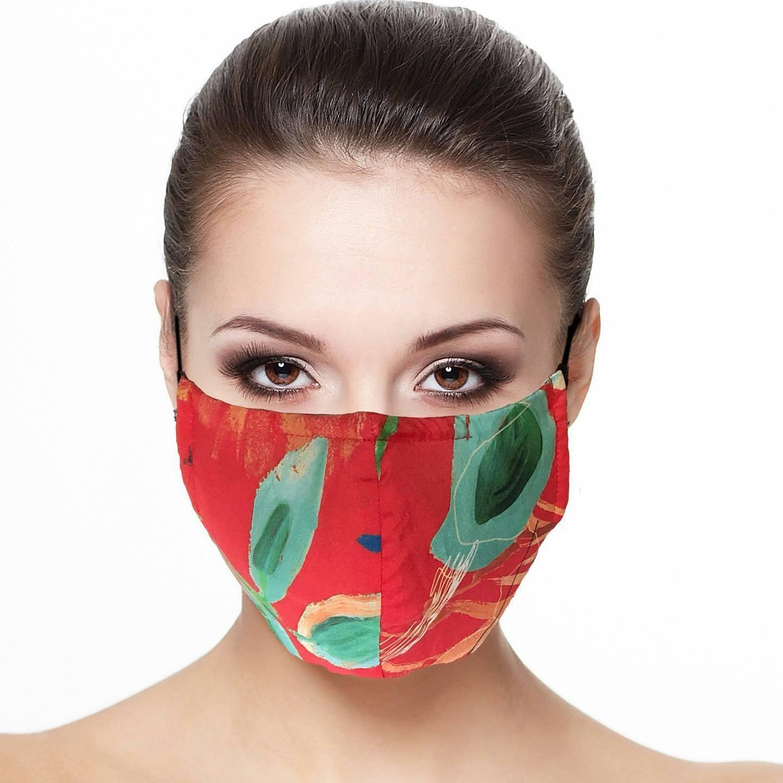 Maloka: Hawaiian Flower Beauty Abstract Art Protective Masks With Filter (Few Left!)