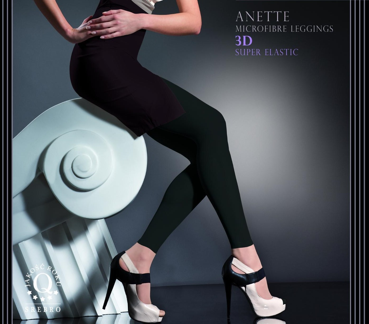 Fiore: Elite Super Opaque Footless Tights (Few Left!) FIO_ANETTE_N
