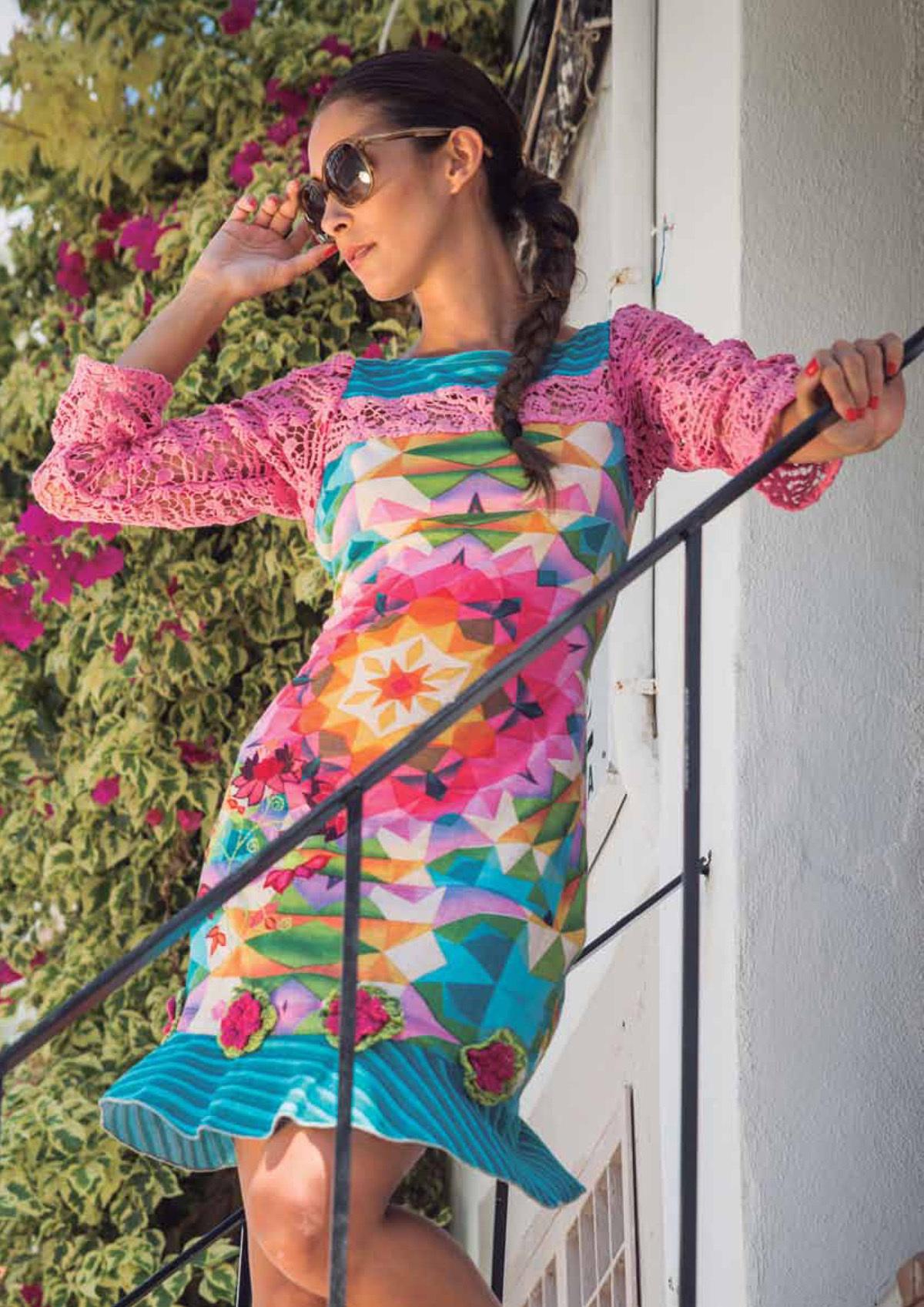 Savage Culture: Pink Rosette Delicate Dakota Dress (Almost Gone!) SAVAGE_30077_N