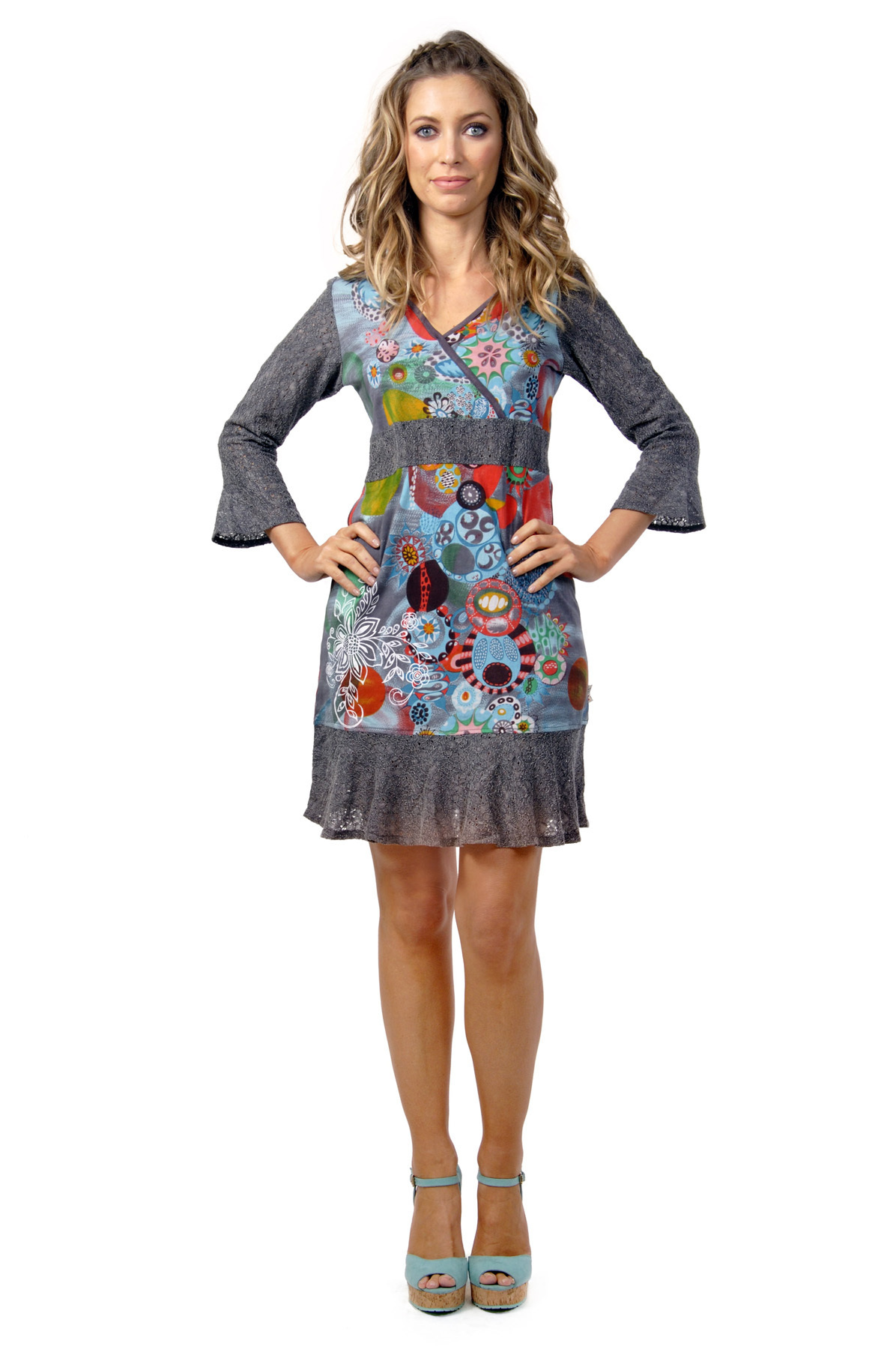 Savage Culture: Arabesque Flower Noa Dress with Tulip Sleeves SAVAGE_30016