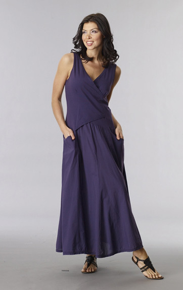 Luna Luz: Cross Over Bodice Long Dress (Ships Immed, More Colors Arrived!) LL_516_N3