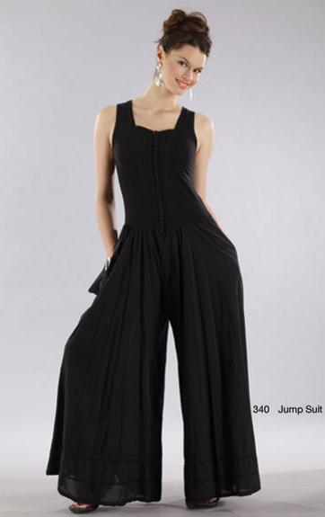 Luna Luz: Sweetheart Bodice Batiste Jumpsuit (1 Left in Navy!) LL_340_JUMPSUIT_N1