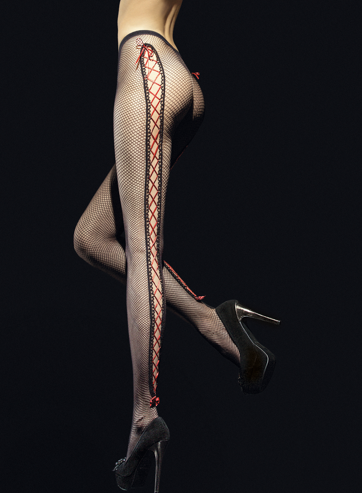 Fiore: Corset Bow Netted Tights FIO_INVITO_N2