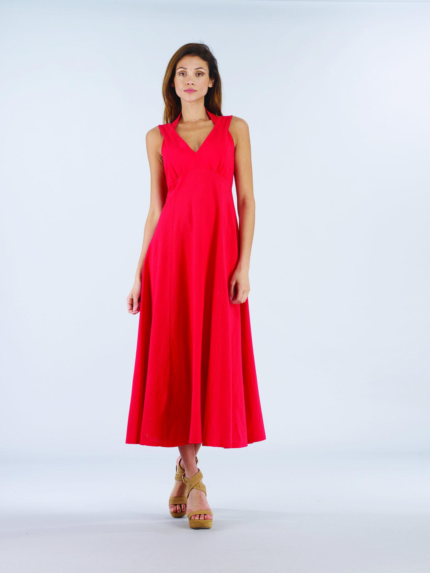 Luna Luz: Diamond Neck Cotton Muslin Dress SOLD OUT