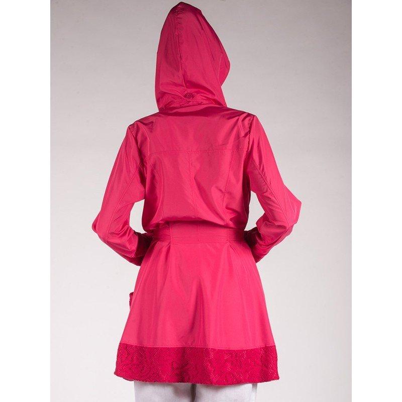 Maloka: Rosette Cotton Rain Coat (2 Left in Red Rose & Pale Rose!)