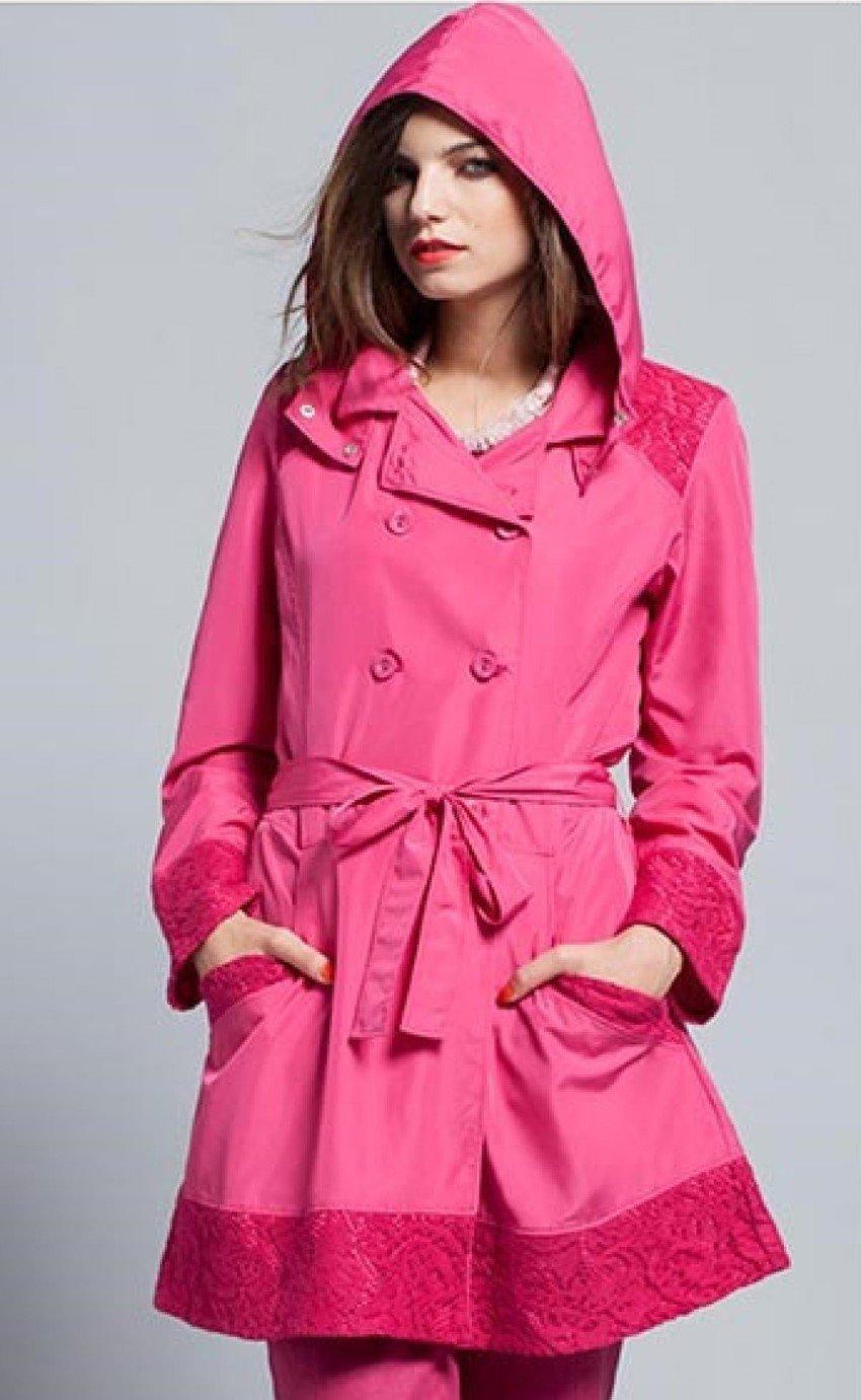 Maloka: Rosette Cotton Rain Coat (2 Left in Red Rose & Pale Rose!) MK_IORI_N2