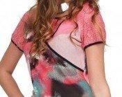 S'Quise Paris: Pink Sand Color Block Cotton Midi Dress