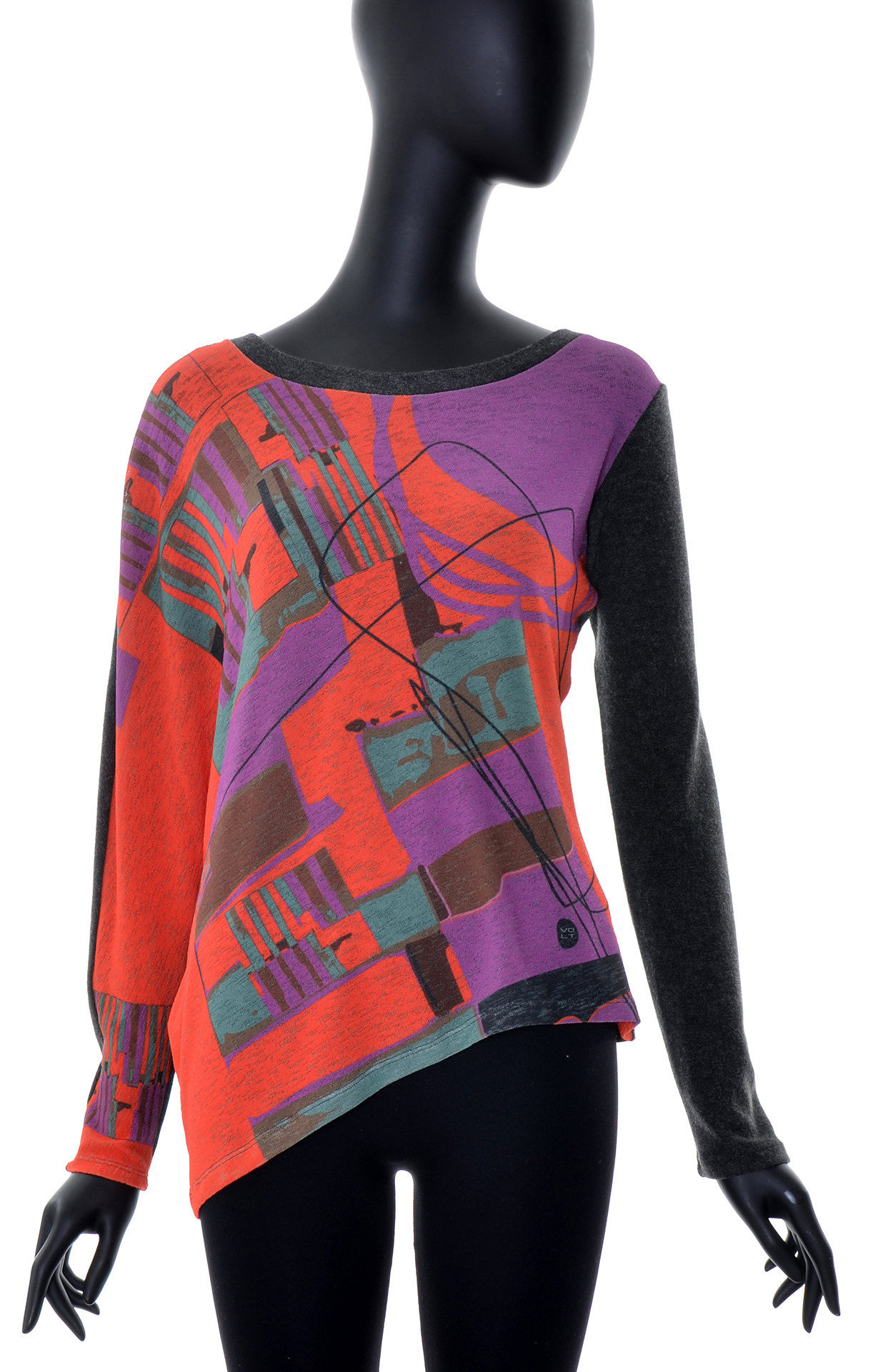 Volt Design: Asymmetrical Purple Pop Abstract Art Tunic (Ships Immed, 1 Left!) VD_360_PLA_C_N1