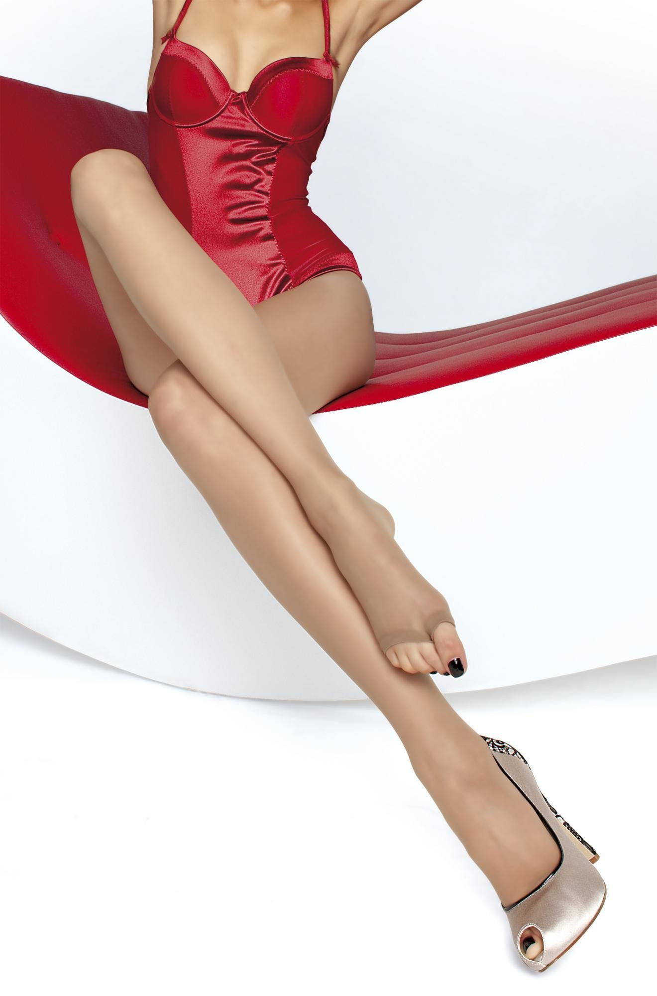Fiore: Sexy Sheer Toeless Tights (More Colors!) FIO_EVELINE_N