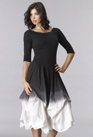 Luna Luz: Tied & Dyed Godet Ombre Dress (Ships Immed, Few Left!) LL_393TO_N
