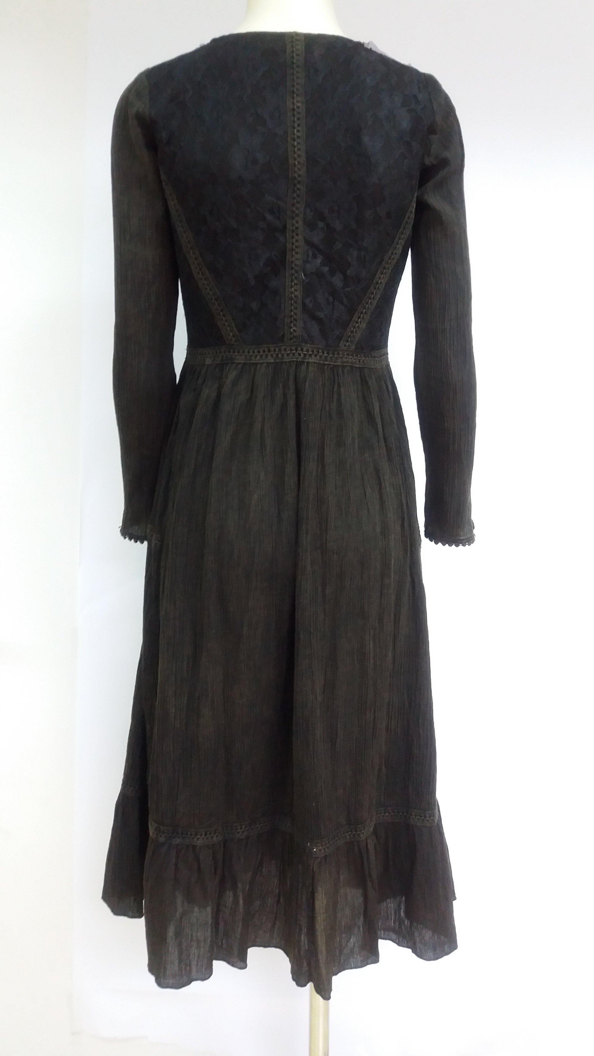 Savage Culture: Bittersweet Embroidered Truffle Midi Dress Antika