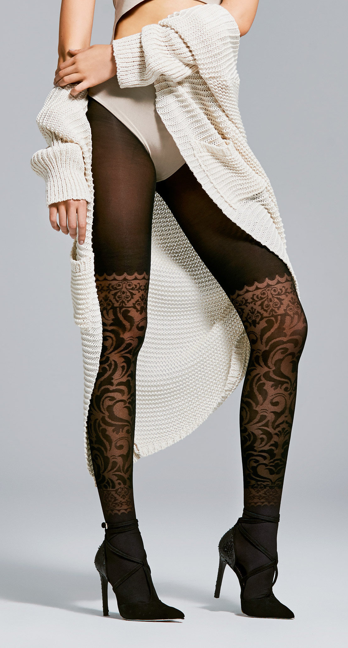 Fiore: Sexy Secret Desire Patterned Semi-Opaque Tights SOLD OUT