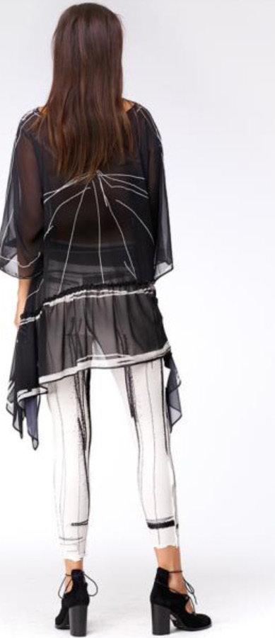 IPNG: Tuxedo Scribbled Asymmetrical Sketch Wear Tunic (Ships Immed, 1 Left!)