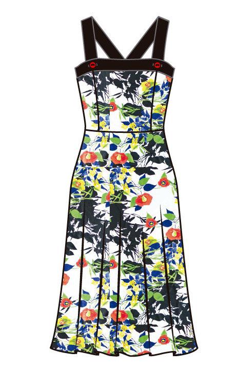 Paul Brial: Backwards Garden Maxi Dress (1 Left!)