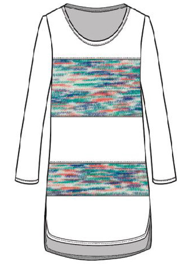 Maloka: Shades Of A Snowy Sky Linen High Low Tunic (Few Left!)