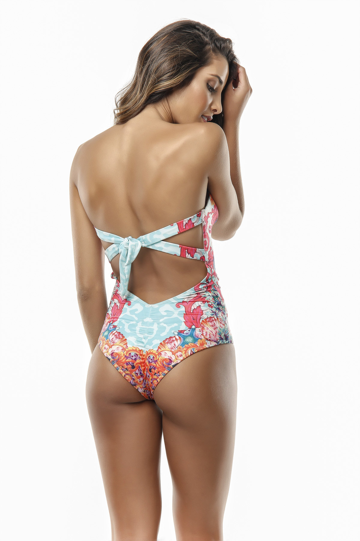 Paradizia Swimwear: Pink Coral Crystals Oceania One-Piece Swimsuit (3 Left!)