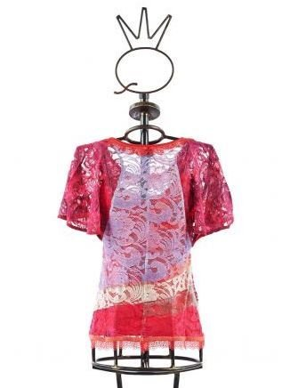 Save The Queen: Floral Lace Cotton Flared Tunic