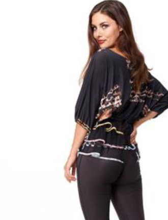 IPNG: Magical Tea Kettle Ruffled Illusion Top (1 Left in Black, Ships Immed!)