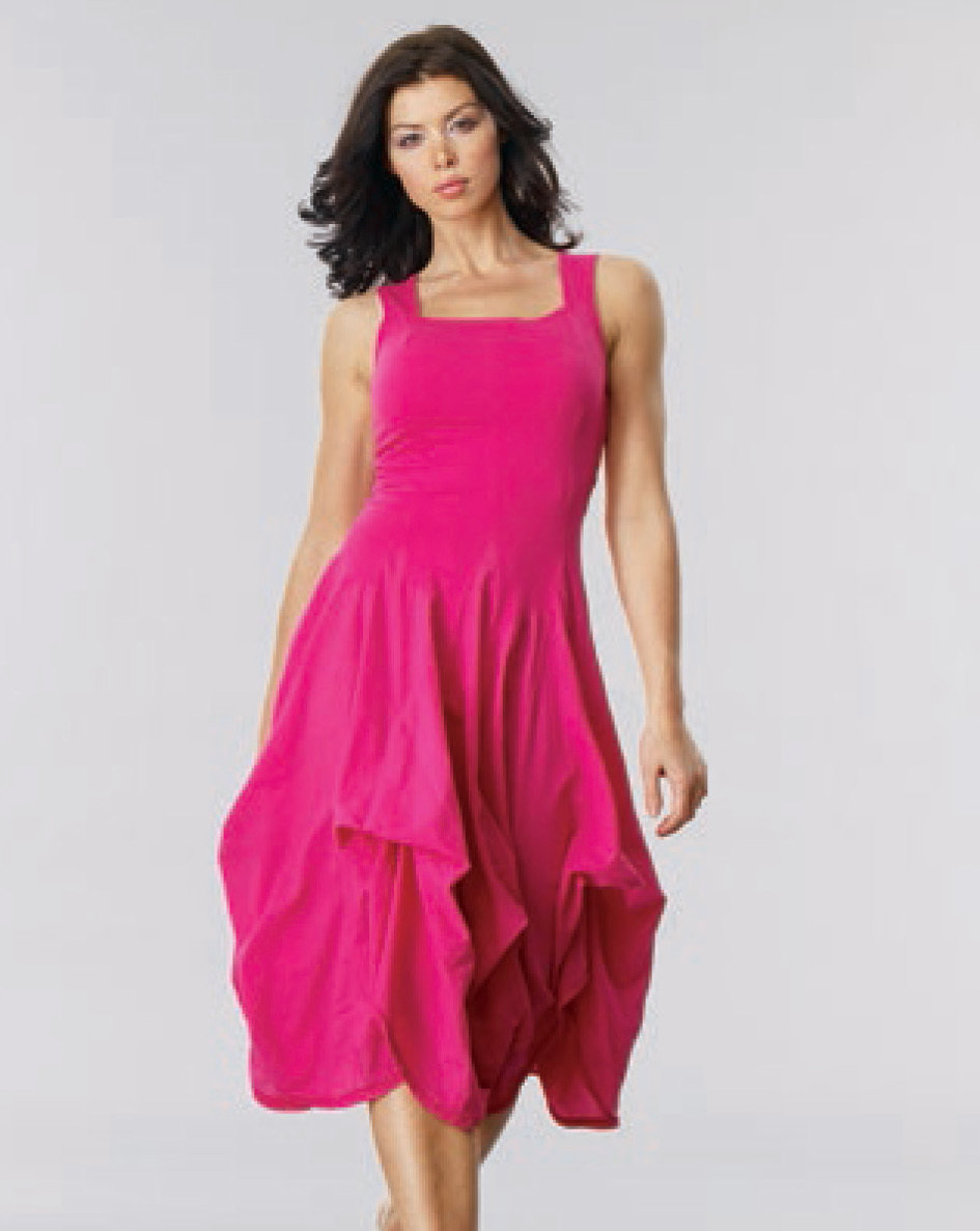 Luna Luz: Romantic Square Neck Tied & Dyed Midi Dress (Ships Immed, 1 Left!) LL_534T_N3