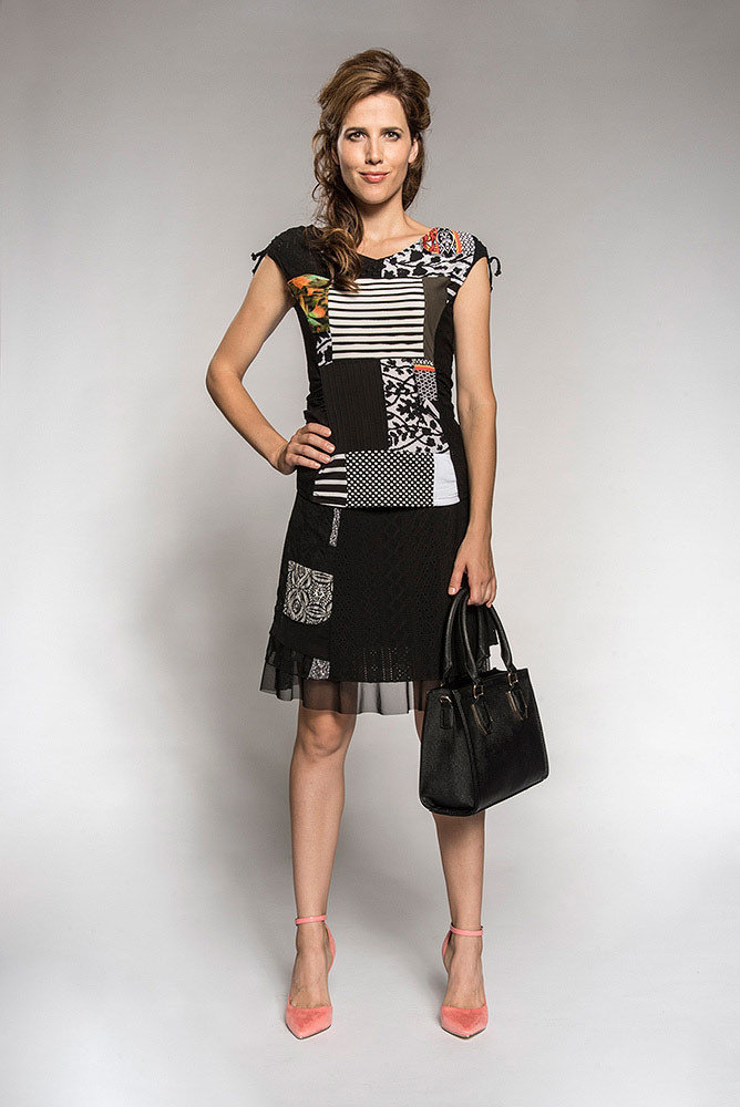 Myco Anna: Pretty In Patchwork Ruched & Tied Top (2 Left!)
