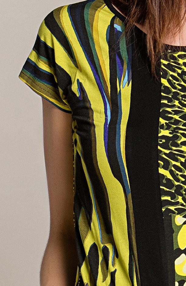 Paul Brial: Martini Colorblock Capped Sleeve Top