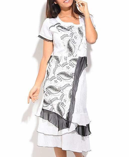 S'Quise Paris: Cupcake Arabesque Print Peek-A-Boo Crinkled Maxi Dress SQ_1646_N