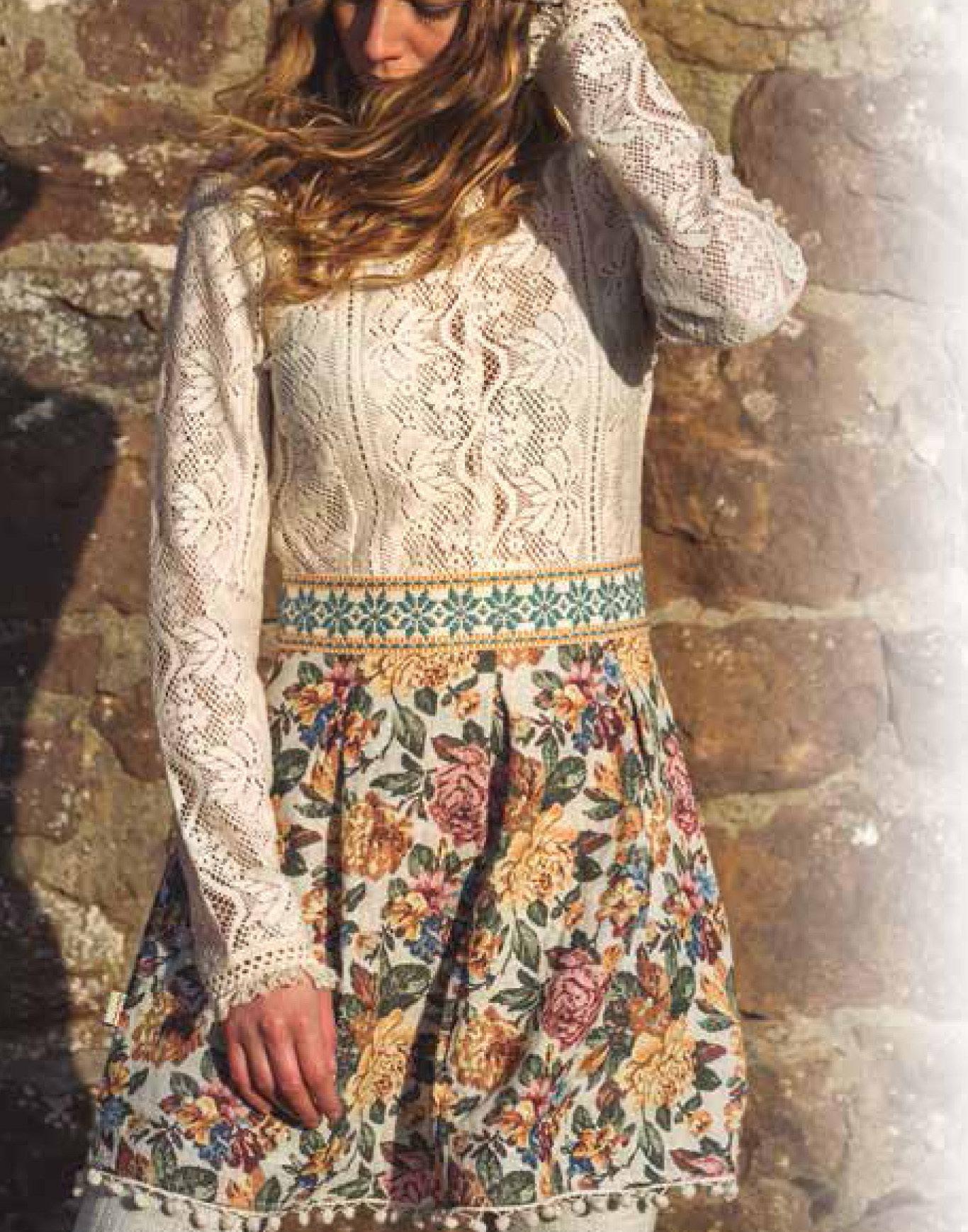 Savage Culture: Floral Flutter Cotton Dress Indo