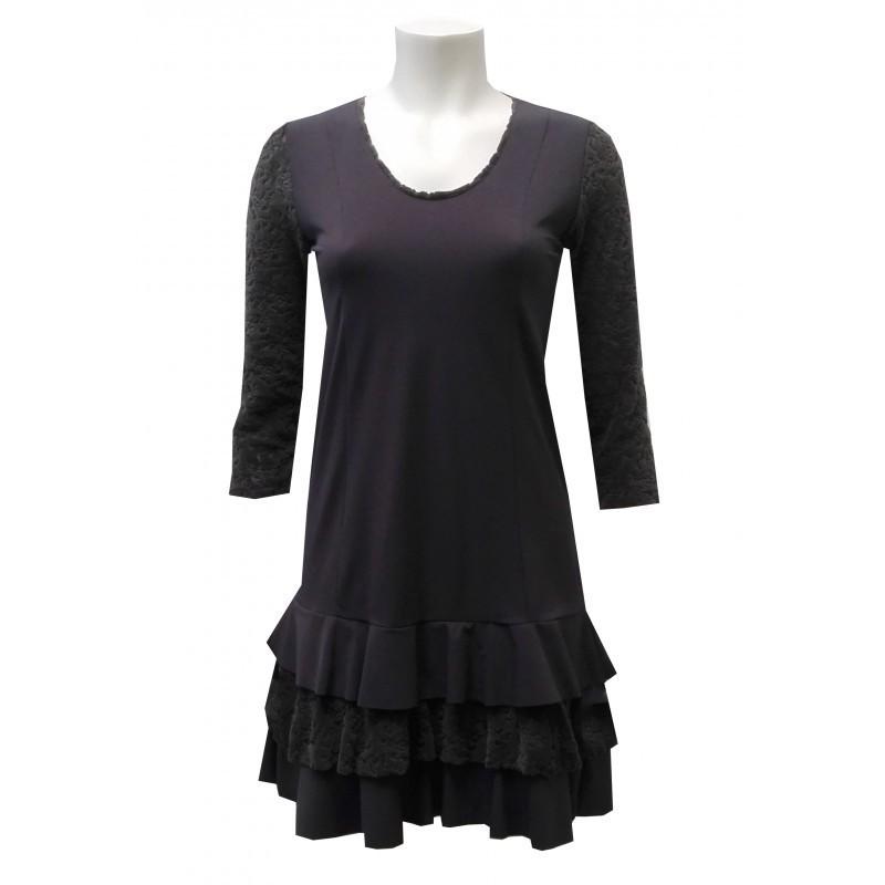 Maloka: Triple Cut Velvet & Contrast Ruffled Hem Dress (1 Left in Powder Blue!)