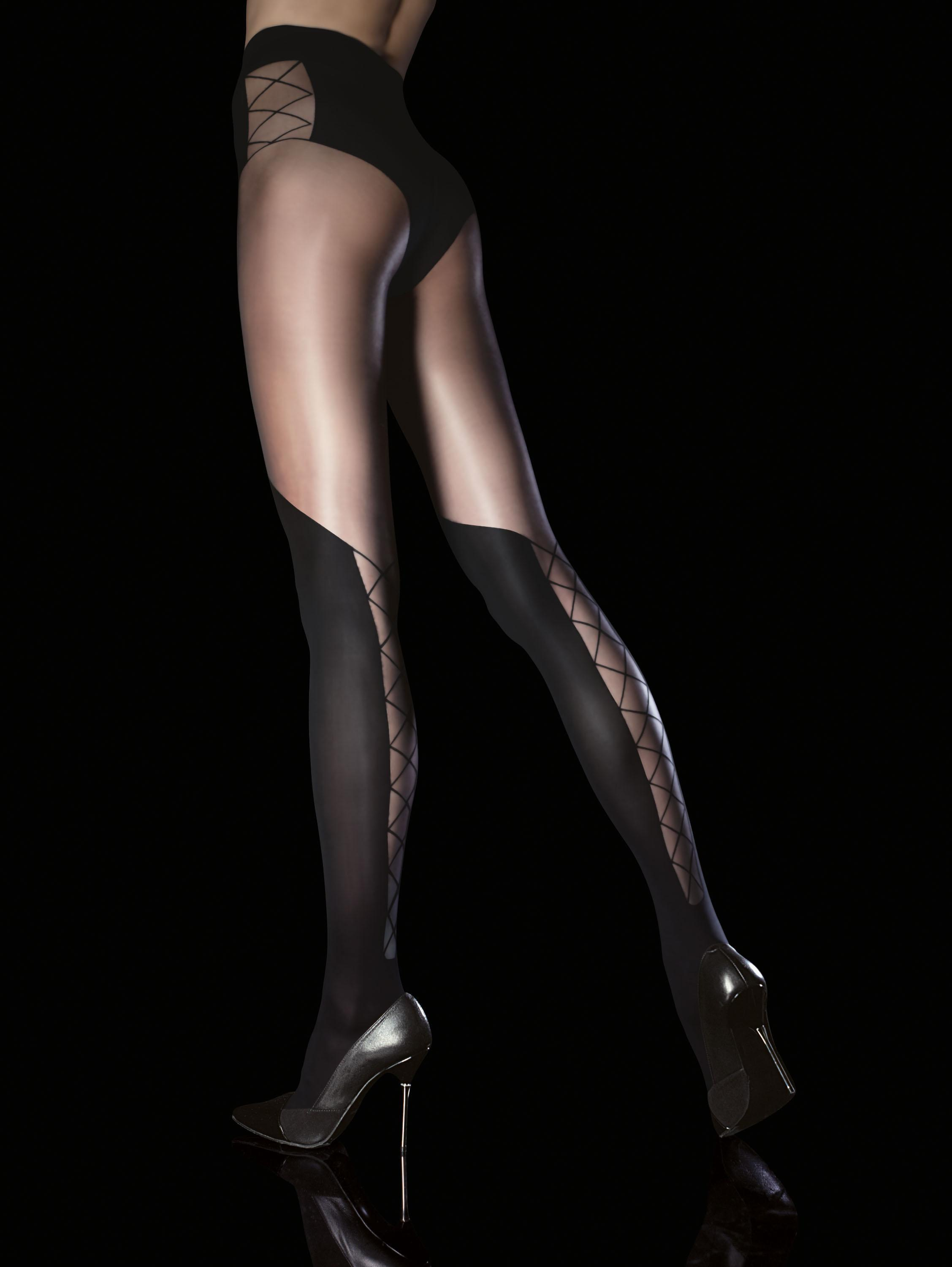 Fiore: Sensual Corset Patterned Tights (1 Left!) FIO_DARYA_N2