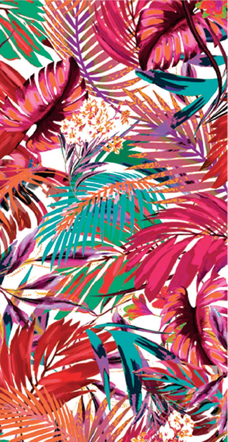 Paul Brial: Jungle Of Pink Purple Blooms Maxi Dress (Few Left!)