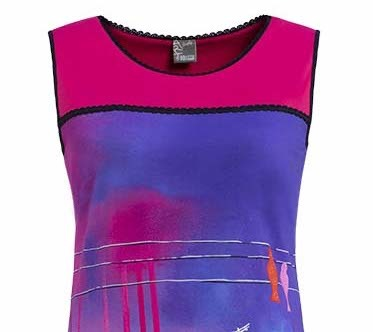 Simply Art Dolcezza: Fuschia Paint Spill Flared Sundress SOLD OUT