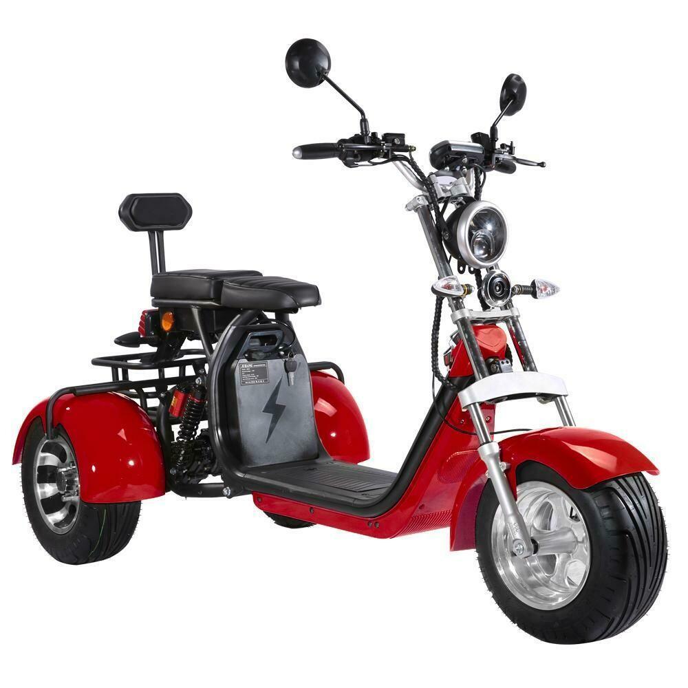 City-e-Scooter Dreirad mit Straßenzulassung COC EEC